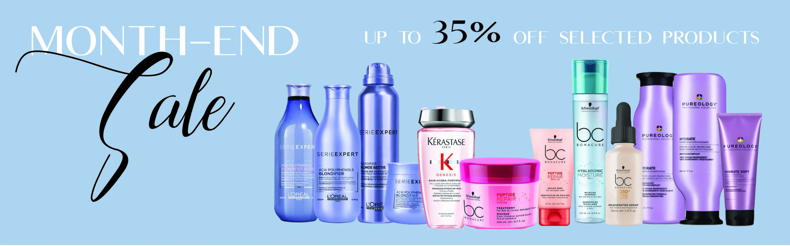 Month end hair product sale